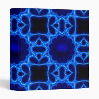 Blue Laser Light Fractal 3 Ring Binder