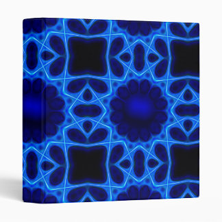 Blue Laser Light Fractal Vinyl Binder