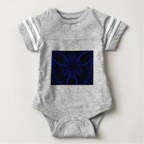 blue laser pattern baby bodysuit