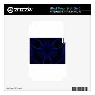 blue laser pattern iPod touch 4G skins