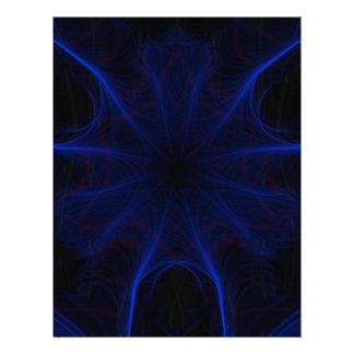 blue laser pattern letterhead