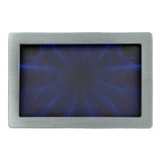 blue laser pattern rectangular belt buckle