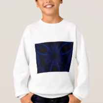blue laser pattern sweatshirt