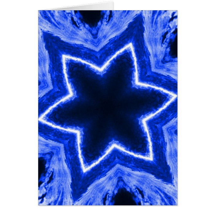Blue Laser Snowflake Card