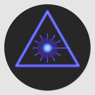 Blue Laser Symbol Sticker