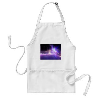 Blue lasers lights foam adult apron