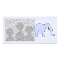Blue Laughing Elephant. Card