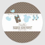 Blue Laundry | Labels Round Stickers