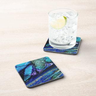 Blue Lava Glass Coaster