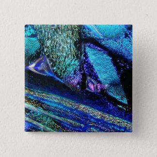 Blue Lava Glass Pinback Button