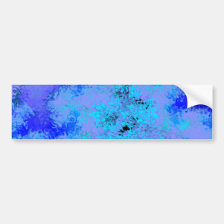 Blue Lavender Abstract Bumper Sticker