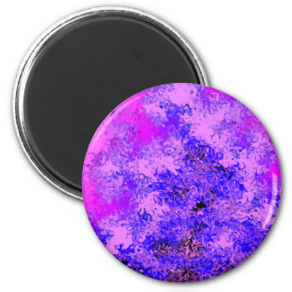 Blue Lavender Abstract 2 Inch Round Magnet