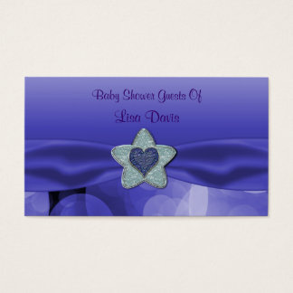 Blue Lavender Bubbles Baby Shower Business Card