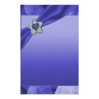 Blue Lavender Bubbles Baby Shower Stationery