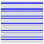 [ Thumbnail: Blue & Lavender Colored Lines/Stripes Pattern Fabric ]