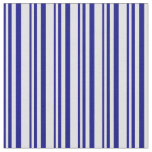[ Thumbnail: Blue & Lavender Colored Striped/Lined Pattern Fabric ]