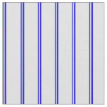 [ Thumbnail: Blue & Lavender Colored Stripes Fabric ]