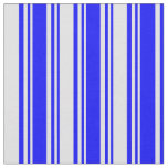 [ Thumbnail: Blue & Lavender Colored Stripes/Lines Pattern Fabric ]
