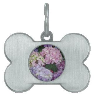Blue Lavender Hydrangeas Pet Tag