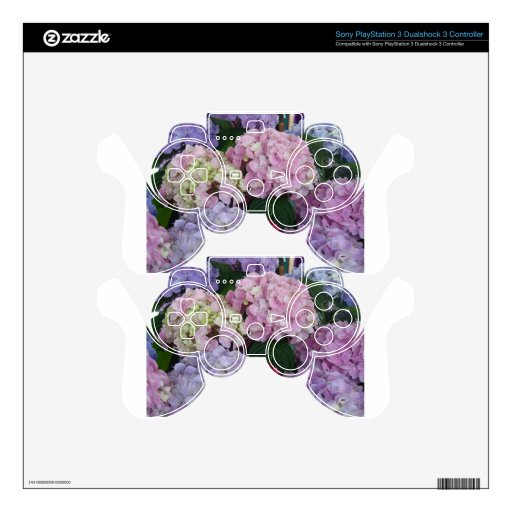 Blue Lavender Hydrangeas Skin For PS3 Controller