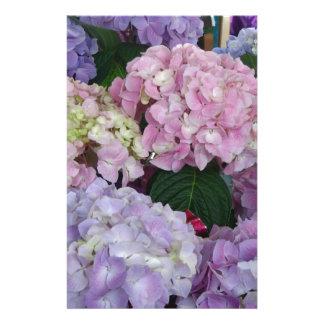 Blue Lavender Hydrangeas Stationery