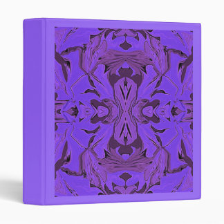 Blue & lavender kaleidoscope design Avery Binder