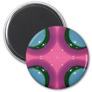 Blue Lavender Magenta Shiny Ceramics Photography Magnet
