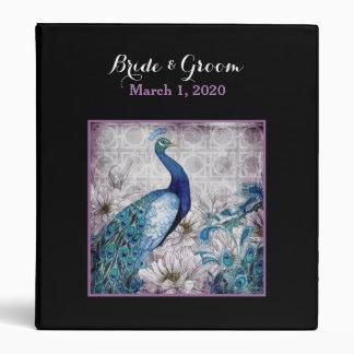 Blue Lavender Peacock Wedding Binder