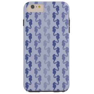 Blue Lavender Seahorse Links Tough iPhone 6 Plus Case