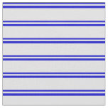 [ Thumbnail: Blue & Lavender Stripes/Lines Pattern Fabric ]