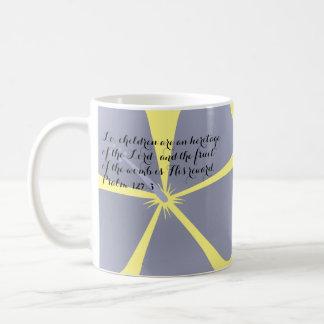 Blue/Lavender Tropical Hibiscus Mug Bible Verse
