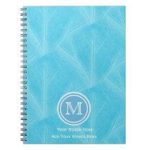 Blue Leaf 2 Monogram Notebook