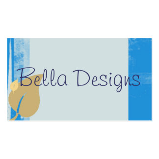Blue Leaf Business Card, Double Sided