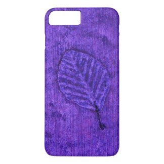 Blue Leaf Fossils iPhone 7 Plus Case