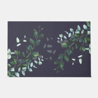 Blue Leaf Mystique Doormat