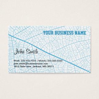 Blue Leaf Veins business card