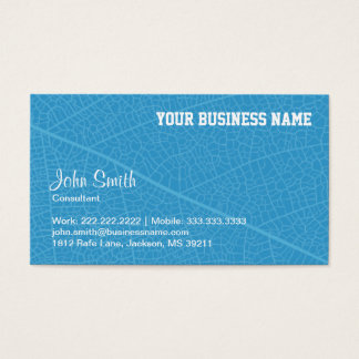 Blue Leaf Veins Consultant business card