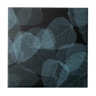 Blue Leaf X-Ray png Ceramic Tile