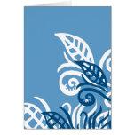 blue leafe design god love you cards