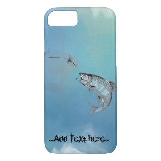 Blue Leaping Trout Fly Fishing iPhone 7 Case