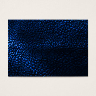 Blue Leather Background Pattern Business Card
