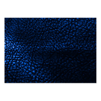 Blue Leather Background Pattern Large Business Card