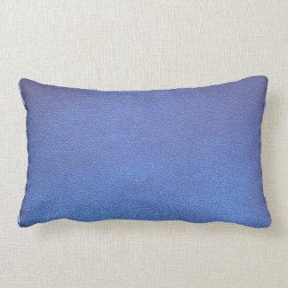Blue Leather finish Template DIY add TEXT IMAGE 99 Lumbar Pillow
