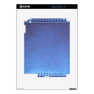 Blue Leather finish Template DIY add TEXT IMAGE 99 Decals For iPad 2