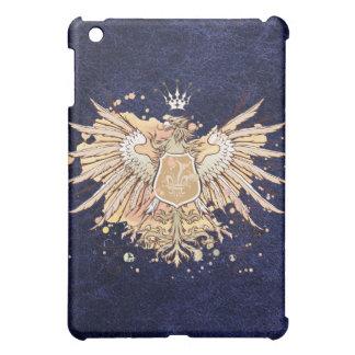 Blue Leather German Eagle iPad Case