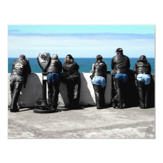 Blue Leather 4.25x5.5 Paper Invitation Card