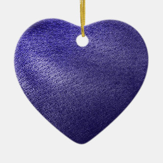 Blue Leather Look Ceramic Ornament