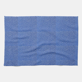 Blue Leather look texture background add text img Hand Towel