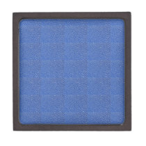 Blue Leather look texture background add text img Jewelry Box