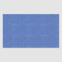 Blue Leather look texture background add text img Rectangular Sticker